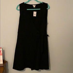 NWT black J. Crew wrap dress